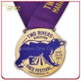 주문을 받아서 만들어진 미국 자전거 경주 경쟁 스포츠 금속 트로피 큰 메달