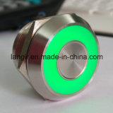 Acero Inoxidable 12V verde encendido Interruptor capacitivo de 25mm
