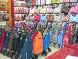 Carrello multifunzionale leggero di acquisto del PVC dei bagagli della drogheria a ruote grande piegatura