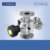 Ss 316L Manual da Válvula de diafragma multiportas (extremidades de Fechamento)