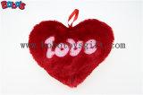 Kissen-Kasten-Plüsch angefülltes heißes Rosa-Inner-weiches Kissen mit Liebes-Wörtern