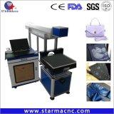 Macchina per incidere da tavolino della marcatura del laser del CO2 della fibra per il legno di metallo del documento di cuoio