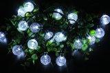 LED de 30 de la luz de la cadena de bola de cristal solar para patio jardín/Party/Wedding Decoration