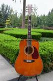 """D45s 41の"""" 301 Fishman EQ (D45)の固体小ぎれいな上の古典的なアコースティックギター"""