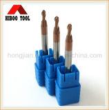 Molinos de extremo de cobre baratos de bola de la capa del precio HRC45