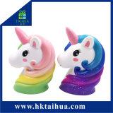 Il capretto dei nuovi prodotti gioca la sfera Squishy di sforzo dell'unicorno di figura della gomma piuma animale dell'unità di elaborazione