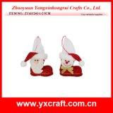 Décoration de Noël (ZY14Y Pleuche149-1-2) tissu velours chaussure de Noël