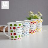 Cuvette de thé initiale personnalisée de porcelaine du logo 14oz Chine