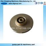 Impulsor de la bomba del bronce del bastidor de inversión con trabajar a máquina del CNC