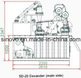 2016 최신 인기 상품! 작은 수용량 모래 세척 플랜트 SD-20 desander