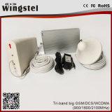 Tri leistungsfähiger mobiler Signal-Verstärker des Band-GSM/Dcs/WCDMA 900/1800/2100MHz mit Antenne