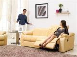 余暇のイタリアの革ソファーの家具(705)