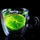 Tazza di vetro doppia del caffè espresso della tazza di caffè di vetro di Borosilicate