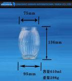 De grote Fles van het Glas voor het Glaswerk van de Houder van de Kaars