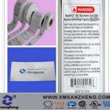 Approuvé par la CSA colorés personnalisé résistant aux produits chimiques des étiquettes de vêtements en tissu lavable