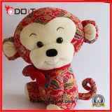 중국 작풍 원숭이 견면 벨벳 애완 동물 장난감