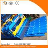 China Color Coated Roofing Hoja de perfil de acero Roll formando la máquina