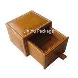 新しく贅沢なのどの革宝石類のロッカーの形の包装の記憶のケース