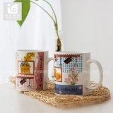 Taza de té de China de hueso de la toma 330ml con la impresión de la etiqueta