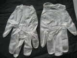 Wegwerfbare transparente Farben-Vinylprüfung. Handschuhe