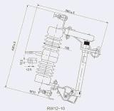 Guoen sai o interruptor RW12-15-200A ao ar livre do entalhe do fusível/da ligação/ruptura do fusível