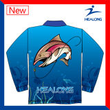 Cheap Sublimation Custom Wholesale Mens Team Jerseys de pesca camisas