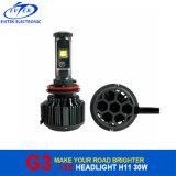 Evitek V16ターボのファン30W 3000lmクリー族H11 G3 LEDのヘッドライトH4 H13 H7 9006 9005 3000k 6000k 8000k