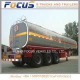 Remorque de camion-citerne aspirateur d'acier du carbone de 3 essieux pour la distribution d'essence et d'huile