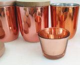 日の装飾のためのガラス銅の瓶の蝋燭