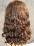 Cabelo humano de 100%/perucas judaicas Sheitels onda frouxa