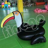 Aufblasbares Pool-Spielzeug-sich hin- und herbewegender Krapfen-Schwan-grosser Vogel-Pool-Gleitbetrieb