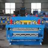 Rodillo de acero de la hoja del material para techos de la capa doble del fabricante de China que forma la máquina