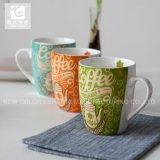 Taza del té de la taza de la porcelana de China de la impresión de la etiqueta
