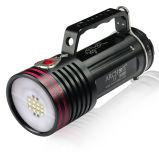 2개의 다른 빛 백색 + 빨강을%s 가진 Archon Wg76W 6500 루멘 LED 잠수 영상 빛