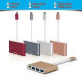 Maschio del USB USB-C al mozzo per porta 3*USB 3.0 con un USB 3.1 & il caricatore