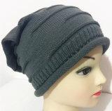 Kundenspezifisches Drucken strickte Schutzkappe gestickten Beanie der Winter-warme Hut