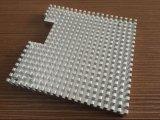 Perfis de alumínio do dissipador de calor do cliente com fazer à máquina do CNC