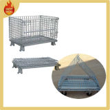 Klappmetalldrahtkäfig Metall Bin Lagercontainer (WMC-02)