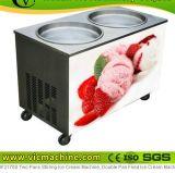 タイのアイスクリームのローラー機械