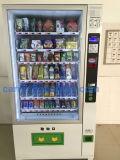 Máquina de venda automática de bebidas e bebidas e lanches de grande capacidade com sistema de gerenciamento de backend