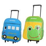 Мешок школы с багажом и вагонеткой для детей
