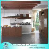 Qualitäts-weißer Schüttel-Apparattür-festes Holz-Küche-Standardschrank