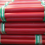 UL FMの消火活動のスプリンクラーの赤い塗られた鋼管