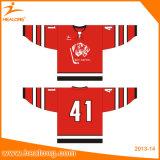 Camisa barata de los jerseys del hockey sobre hielo de la sublimación de encargo de Healong