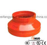 FM/UL enumeró el hierro dúctil reductor acanalado/roscado de 300psi de las instalaciones de tuberías