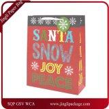 크리스마스 선물 부대, 꼬이는 손잡이, 서류상 선물 부대, 종이 봉지를 가진 Kraft 크리스마스 선물 부대