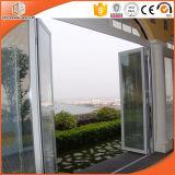 Portelli Bifold di alluminio della rottura termica lustrati doppio per la villa dell'Europa