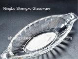 Glaswerk sx-005 van de Plaat van de Schotel van het Glas van het Ontwerp van het Schip van het kristal Transparant