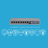 8 Port Reverse Poe Switch com 8 Fe Rev + 1ge + 1SFP
