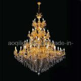 Projeto de cristal decorativo dourado do candelabro (AQ-1238)